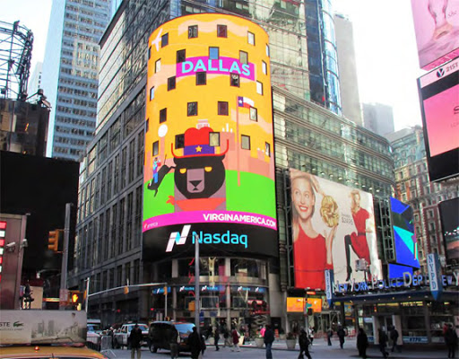 digital billboard in times square new york